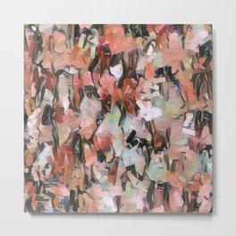 Abstract Confetti Landscape Peach Metal Print
