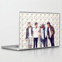 1d Laptop & iPad Skins featuring Floral 1D by Valerie Hoffmann
