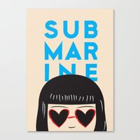 submarine Canvas Prints featuring Submarine by chica