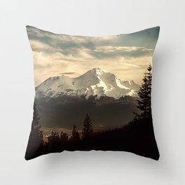 Mount Shasta Waking Up Throw Pillow