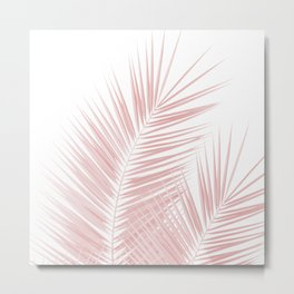 Blush Pink Palm Leaves Dream - Cali Summer Vibes #1 #tropical #decor #art #society6 Metal Print
