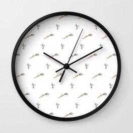 Root Veg Pattern Wall Clock