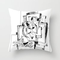 fifth element Throw Pillows featuring The Fifth by 5wingerone