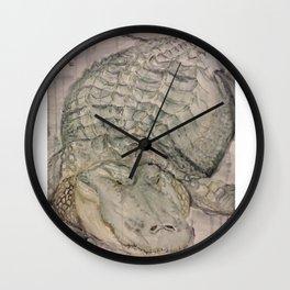 Watercolor Crocodile Wall Clock