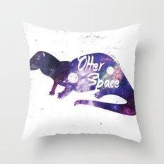 Otter Space Throw Pillow