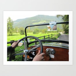 Driving around Italy Art Print