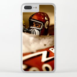 fine old vintage metal toy rocket Clear iPhone Case