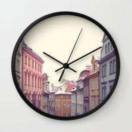 Prague Streets Wall Clock