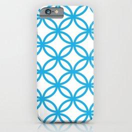 Interlocking Blue iPhone Case