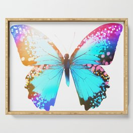 Turquoise Butterfly Serving Tray