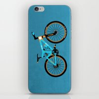 brompton iPhone & iPod Skins featuring Mountain Bike by Wyatt Design