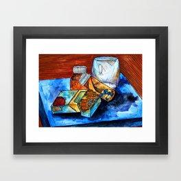 Bedside Table Addiction Framed Art Print