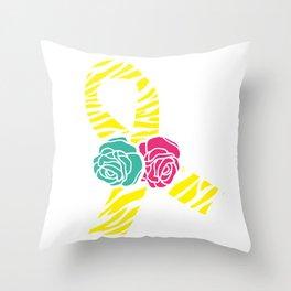 Endometriosis Ribbon 2 Throw Pillow