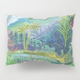 Jungle Paradise Watercolor Pillow Sham