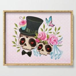 Together Forever - Sugar Skull Bride & Groom Serving Tray