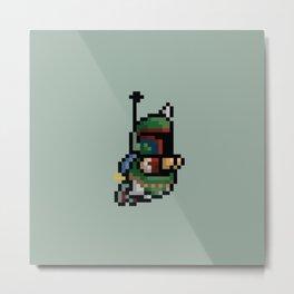 StarWars Bobba Fett Pixel Metal Print