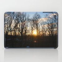 rileigh smirl iPad Cases featuring Snowy Sunset by Rileigh Smirl