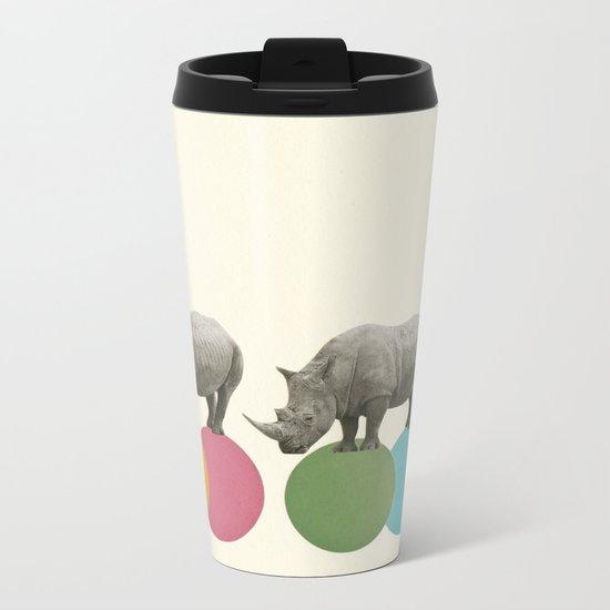 Rambling Rhinos Metal Travel Mug