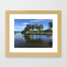 Lagoon Palms Framed Art Print