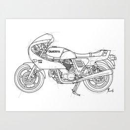 ducat motorcycle Art Print