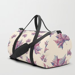 Pastel leaves Duffle Bag