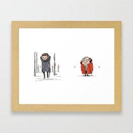 Fargo characters - Malvo & Lester Framed Art Print