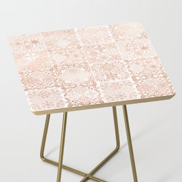 MOROCCAN TILES ROSEGOLD Side Table