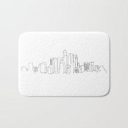Los Angeles Skyline Drawing Bath Mat