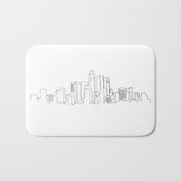 Los Angeles Skyline Drawing Bath Mat