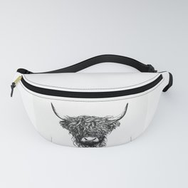 Cattle Face Fanny Pack