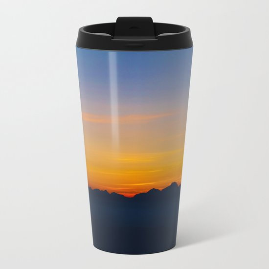 Wispy Mountain Glow Metal Travel Mug