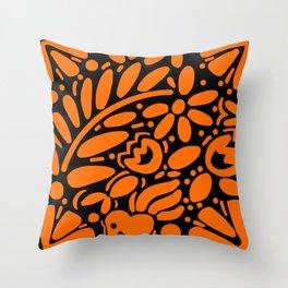 Beautiful Orange Otomi Throw Pillow