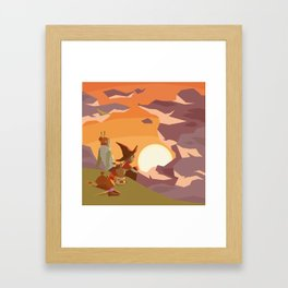 A LONG JOURNEY'S SUNSET Framed Art Print