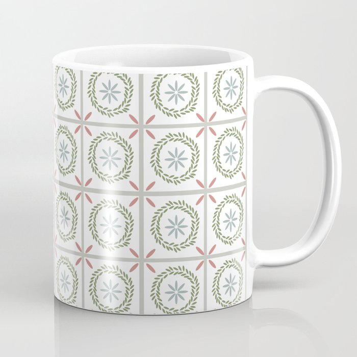 Farmhouse Floral Tile Coffee Mug