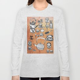 Chinese Tea Doodles 2 Long Sleeve T-shirt