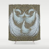 surfer Shower Curtains featuring Sand Surfer by CrismanArt