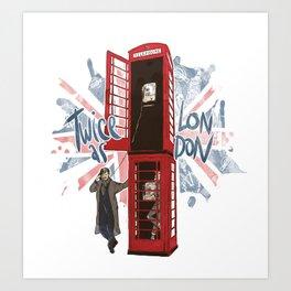 Twice as London 2 Art Print