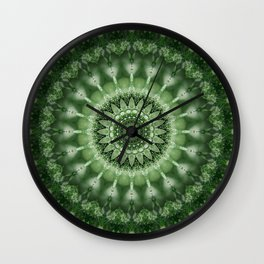 Mandala power of nature Wall Clock