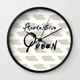 Progressive Queen Digital Design-Oatmeal Wall Clock