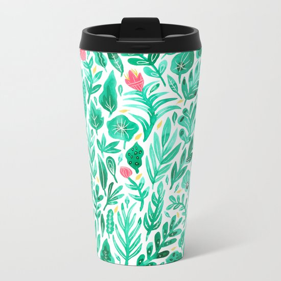 June Blooms Metal Travel Mug