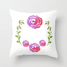 Floral Round Throw Pillow