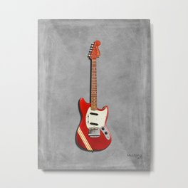 The 1970 Mustang Guitar Metal Print