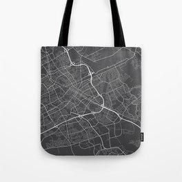 Kitchener Map, Canada - Gray Tote Bag