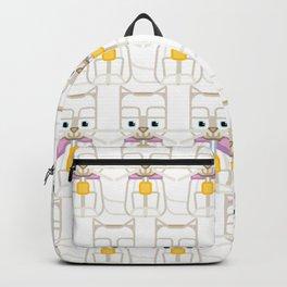Super cute animals - Cute Kitty Cat White Backpack
