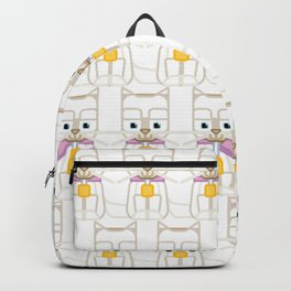 Super cute animals - Cute Kitty Cat White Backpack