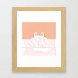 Lingeramas - Sexy Pink Lingerie Top Framed Art Print