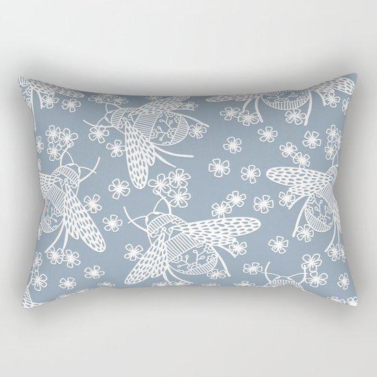 Papercut Bees Rectangular Pillow