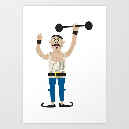 The Strongman from the circus Art Print