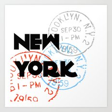 New York Typography Art Print