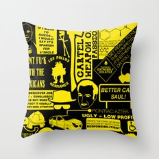 Breaking Bad world Throw Pillow